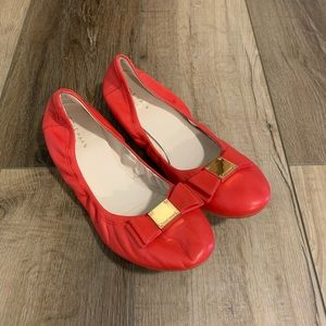 Cole Haan | Grand. Os Red Flats With Bow Size 8.5